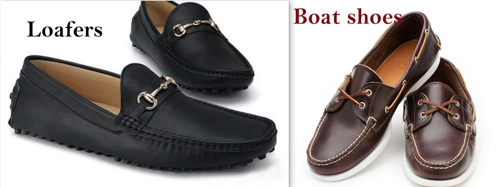 loafers shoes and boat shoes