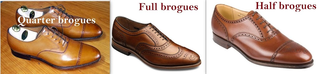 different types of shoes for men - brogues