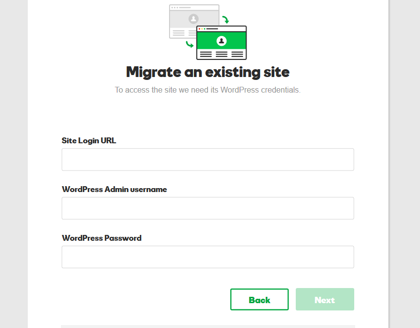 migrating wordpress hosting website