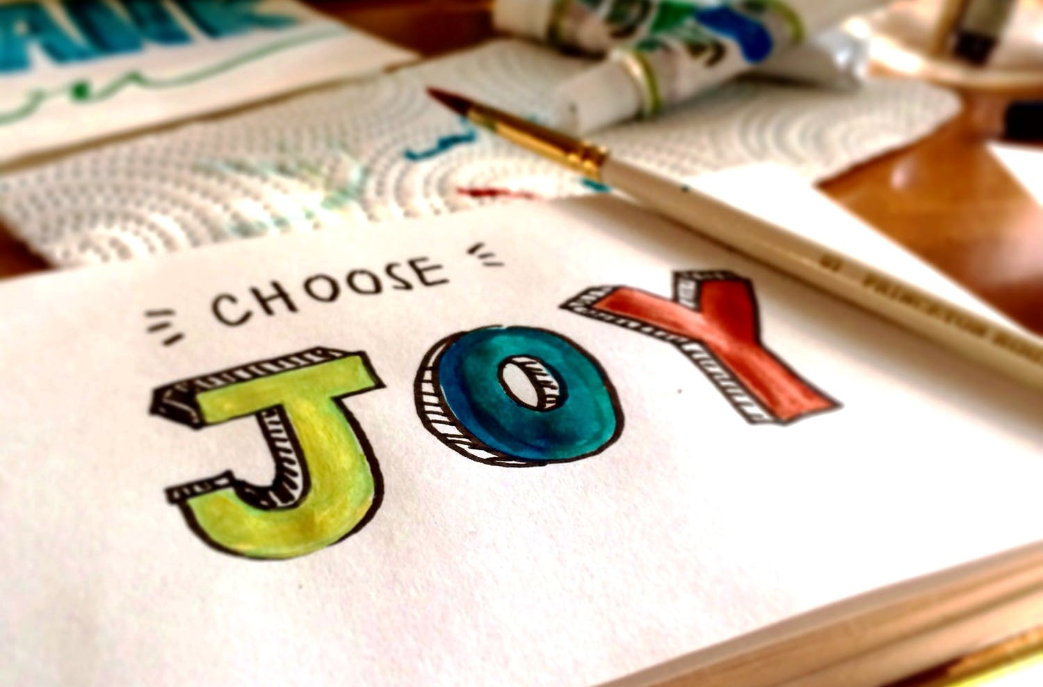 joy written with colors