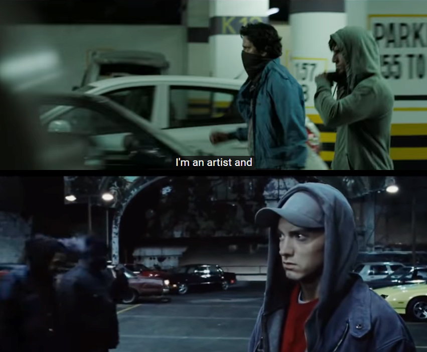 gully boy copied scene 8 mile