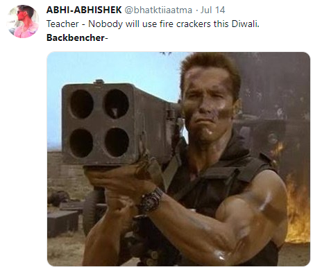 backbencher memes arnold with a rocket launcher