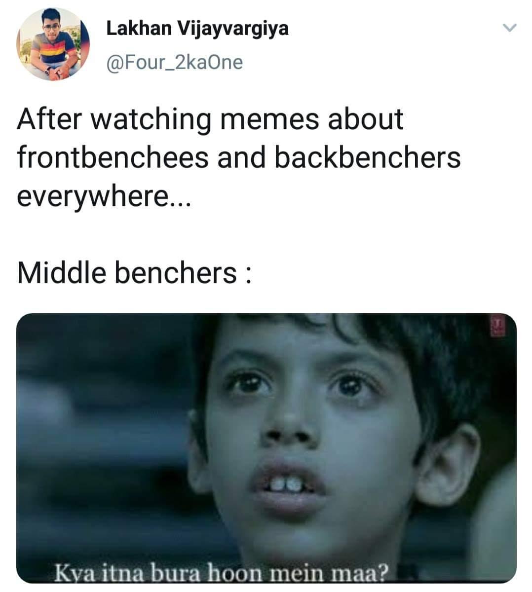 backbencher memes darshil safari