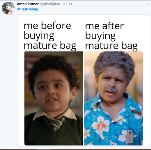 mature bag meme
